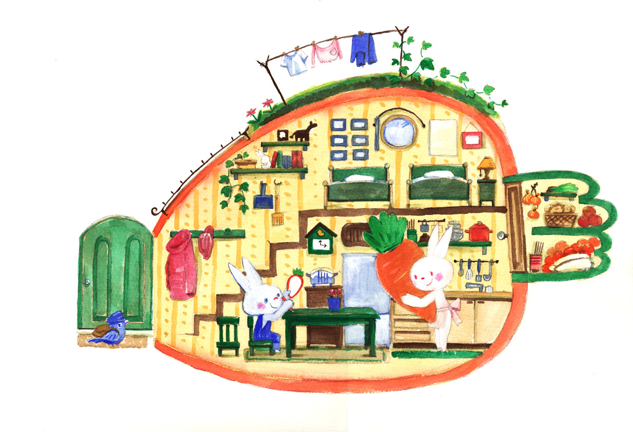 うさぎのお家